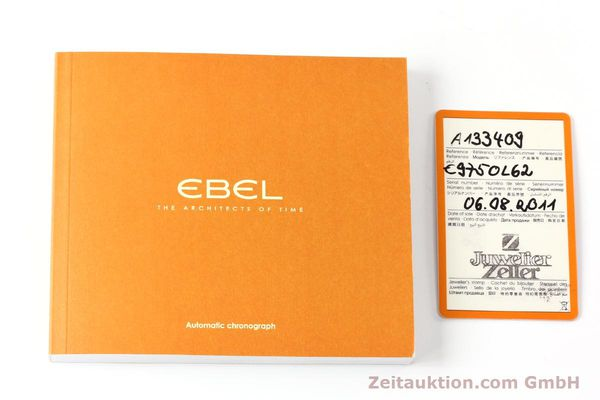 Used luxury watch Ebel 1911 chronograph steel automatic Kal. ETA 7750 Ref. E9750L62  | 142043 08