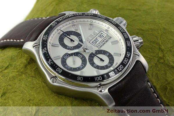 Used luxury watch Ebel 1911 chronograph steel automatic Kal. ETA 7750 Ref. E9750L62  | 142043 15
