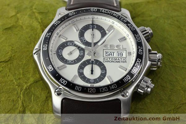 Used luxury watch Ebel 1911 chronograph steel automatic Kal. ETA 7750 Ref. E9750L62  | 142043 16