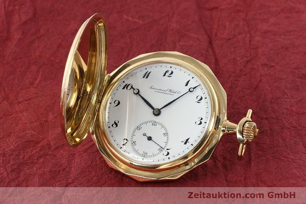 Used luxury watch IWC Taschenuhr 14 ct yellow gold manual winding Kal. 55231  | 142049 04