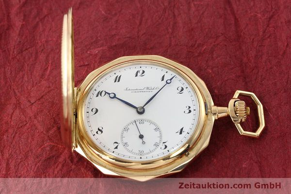Used luxury watch IWC Taschenuhr 14 ct yellow gold manual winding Kal. 55231  | 142049 16