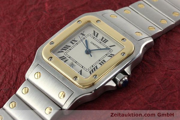 Used luxury watch Cartier Santos steel / gold quartz Kal. 687  | 142058 01