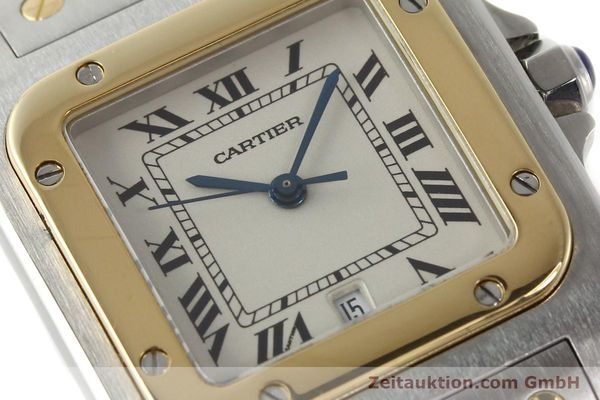 Used luxury watch Cartier Santos steel / gold quartz Kal. 687  | 142058 02