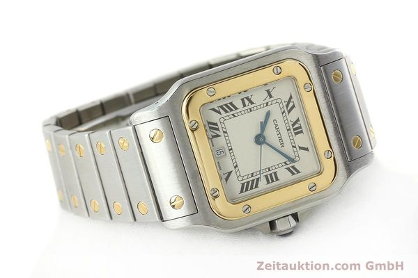 Used luxury watch Cartier Santos steel / gold quartz Kal. 687  | 142058 03
