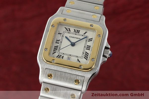 Used luxury watch Cartier Santos steel / gold quartz Kal. 687  | 142058 04