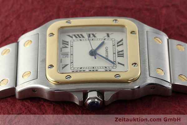 Used luxury watch Cartier Santos steel / gold quartz Kal. 687  | 142058 05