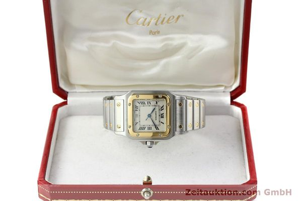 Used luxury watch Cartier Santos steel / gold quartz Kal. 687  | 142058 07