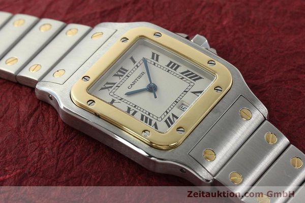 Used luxury watch Cartier Santos steel / gold quartz Kal. 687  | 142058 13