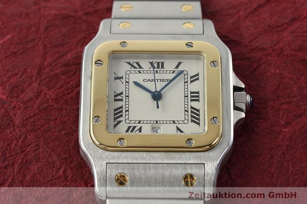 Used luxury watch Cartier Santos steel / gold quartz Kal. 687  | 142058 14