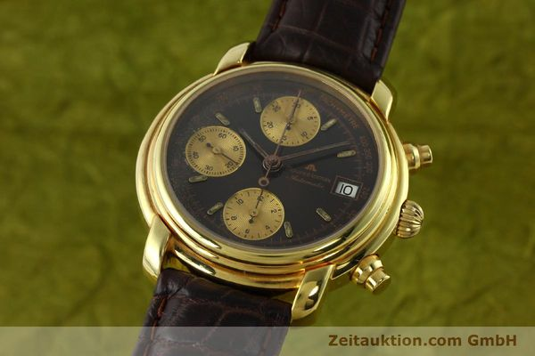 Used luxury watch Maurice Lacroix Croneo chronograph gold-plated automatic Kal. VAL 7750 Ref. 03274  | 142061 04