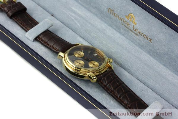 Used luxury watch Maurice Lacroix Croneo chronograph gold-plated automatic Kal. VAL 7750 Ref. 03274  | 142061 07