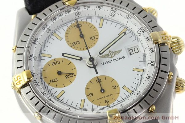 Used luxury watch Breitling Chronomat chronograph steel / gold automatic Kal. VAL 7750 Ref. 81.950  | 142063 02