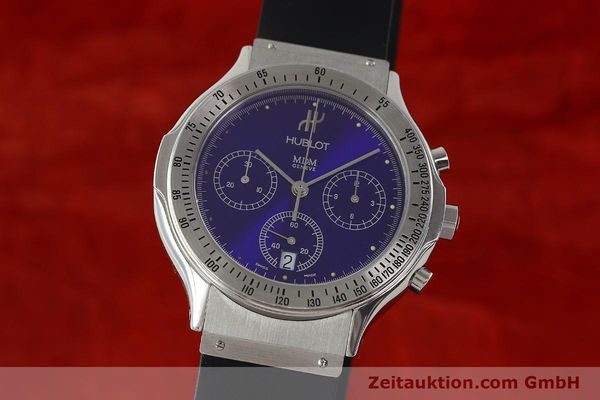 Used luxury watch Hublot MDM chronograph steel quartz Kal. 1270 Ref. 1621.1  | 142064 04