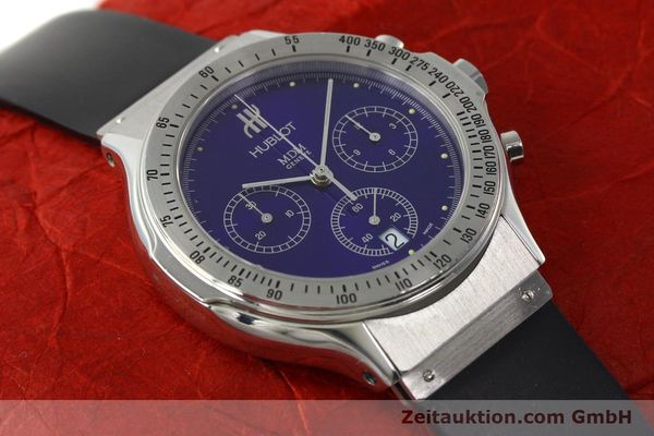 Used luxury watch Hublot MDM chronograph steel quartz Kal. 1270 Ref. 1621.1  | 142064 14