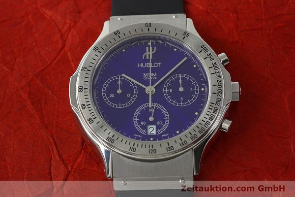 Used luxury watch Hublot MDM chronograph steel quartz Kal. 1270 Ref. 1621.1  | 142064 15