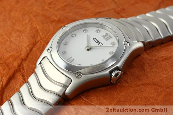 Used luxury watch Ebel Classic Wave steel quartz Kal. 157 Ref. E9157F11  | 142073 01