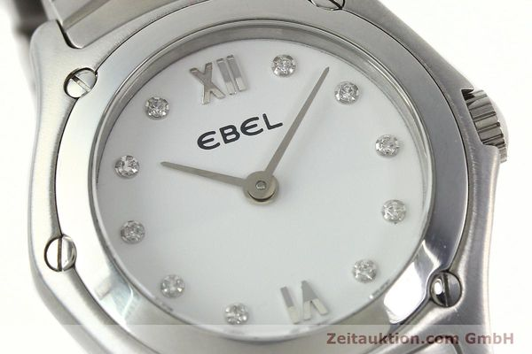 Used luxury watch Ebel Classic Wave steel quartz Kal. 157 Ref. E9157F11  | 142073 02