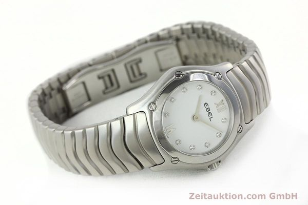 Used luxury watch Ebel Classic Wave steel quartz Kal. 157 Ref. E9157F11  | 142073 03