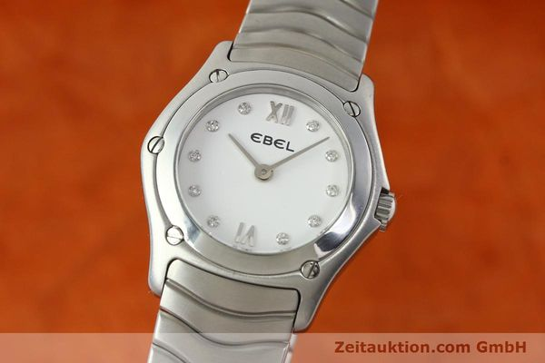 Used luxury watch Ebel Classic Wave steel quartz Kal. 157 Ref. E9157F11  | 142073 04