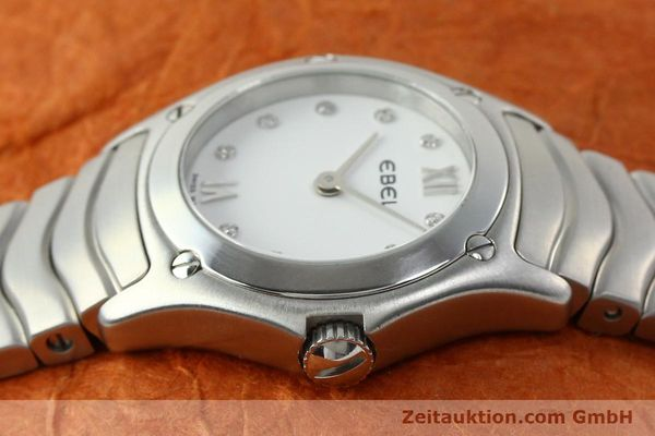 Used luxury watch Ebel Classic Wave steel quartz Kal. 157 Ref. E9157F11  | 142073 05