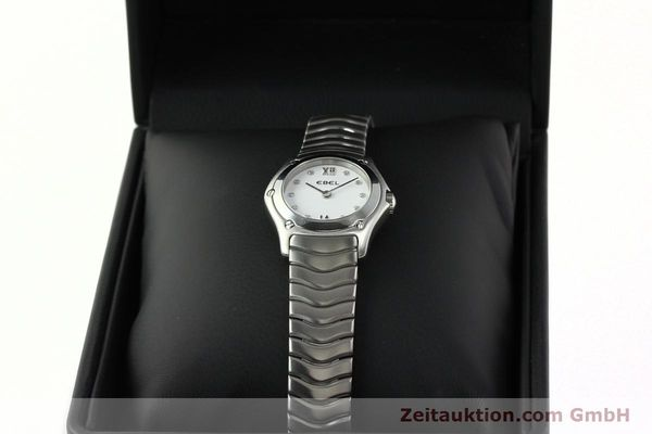 Used luxury watch Ebel Classic Wave steel quartz Kal. 157 Ref. E9157F11  | 142073 07