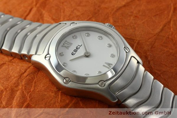 Used luxury watch Ebel Classic Wave steel quartz Kal. 157 Ref. E9157F11  | 142073 12