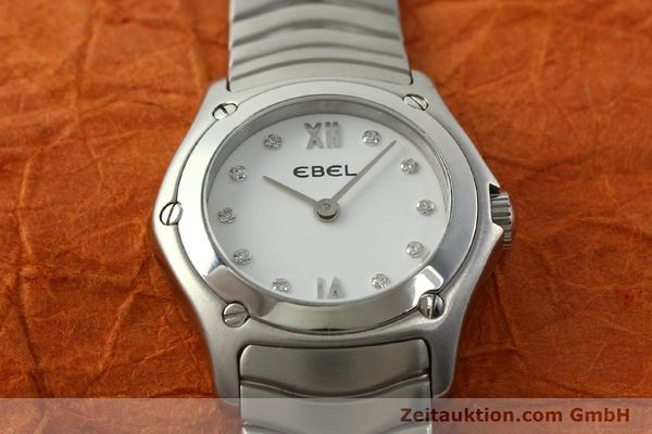 Used luxury watch Ebel Classic Wave steel quartz Kal. 157 Ref. E9157F11  | 142073 13