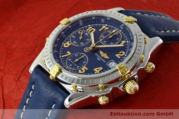 Used luxury watch Breitling Chronomat chronograph gilt steel automatic Kal. B13 ETA 7750 Ref. B13050.1  | 142075 01