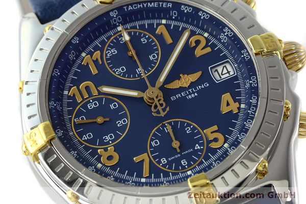 Used luxury watch Breitling Chronomat chronograph gilt steel automatic Kal. B13 ETA 7750 Ref. B13050.1  | 142075 02