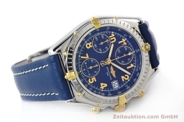 Used luxury watch Breitling Chronomat chronograph gilt steel automatic Kal. B13 ETA 7750 Ref. B13050.1  | 142075 03