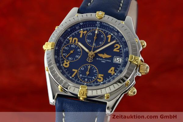 Used luxury watch Breitling Chronomat chronograph gilt steel automatic Kal. B13 ETA 7750 Ref. B13050.1  | 142075 04