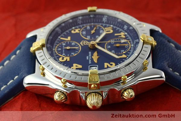 Used luxury watch Breitling Chronomat chronograph gilt steel automatic Kal. B13 ETA 7750 Ref. B13050.1  | 142075 05