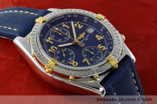 Used luxury watch Breitling Chronomat chronograph gilt steel automatic Kal. B13 ETA 7750 Ref. B13050.1  | 142075 15