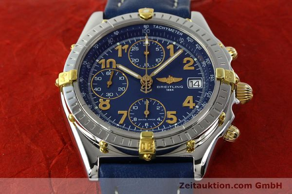 Used luxury watch Breitling Chronomat chronograph gilt steel automatic Kal. B13 ETA 7750 Ref. B13050.1  | 142075 16