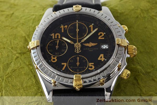 Used luxury watch Breitling Chronomat chronograph steel / gold automatic Kal. B13 ETA 7750 Ref. B13050.1  | 142083 15