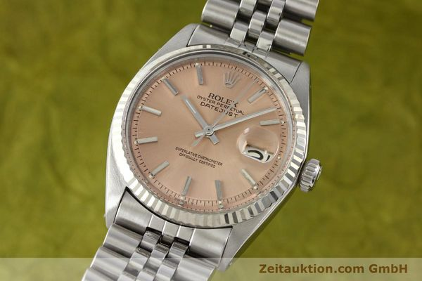 montre de luxe d occasion Rolex Datejust acier / or  automatique Kal. 1570 Ref. 1601  | 142085 04