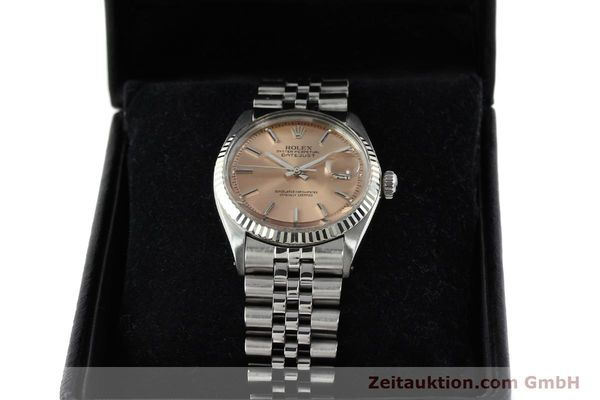 Used luxury watch Rolex Datejust steel / gold automatic Kal. 1570 Ref. 1601  | 142085 07