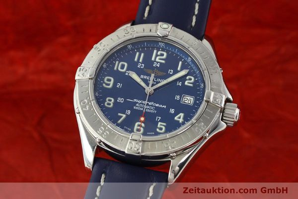 Used luxury watch Breitling Superocean steel automatic Kal. B17 ETA 2824-2 Ref. A17340  | 142088 04