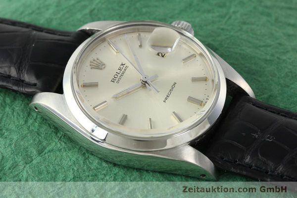 Used luxury watch Rolex Precision steel manual winding Kal. 1225 Ref. 6694  | 142090 14