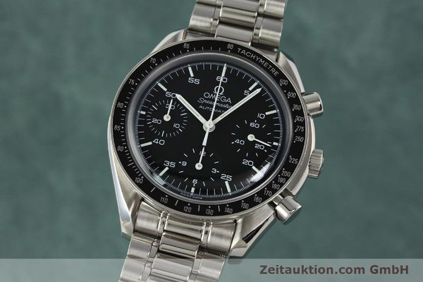 Used luxury watch Omega Speedmaster chronograph steel automatic Kal. 3220 ETA 2890-2 Ref. 35105000  | 142094 04