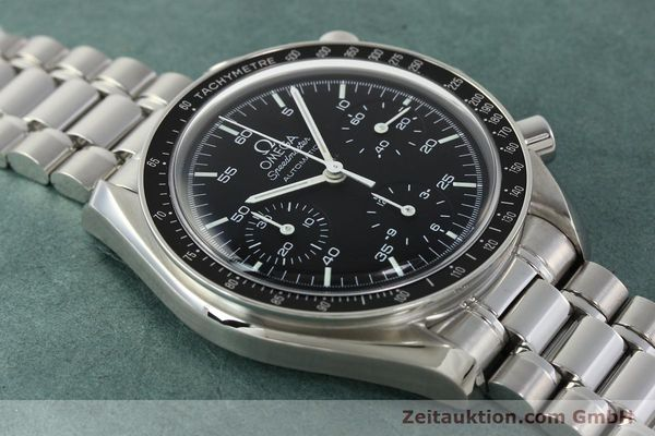 Used luxury watch Omega Speedmaster chronograph steel automatic Kal. 3220 ETA 2890-2 Ref. 35105000  | 142094 15