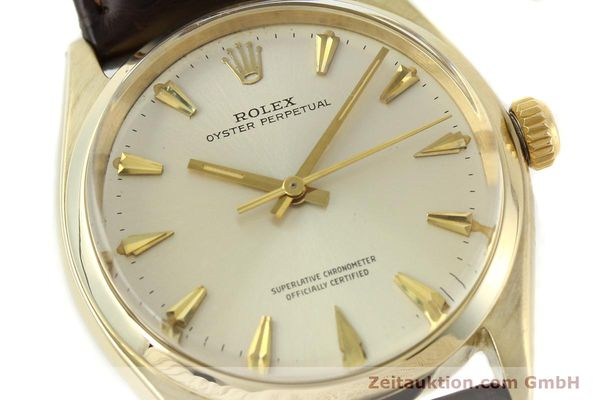 Used luxury watch Rolex Oyster Perpetual 14 ct yellow gold automatic Kal. 1560 Ref. 1002  | 142095 02