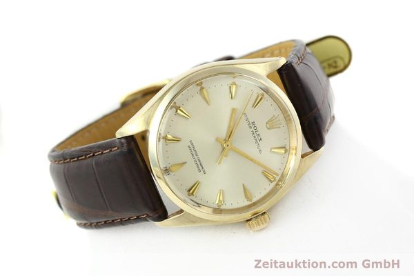 Used luxury watch Rolex Oyster Perpetual 14 ct yellow gold automatic Kal. 1560 Ref. 1002  | 142095 03
