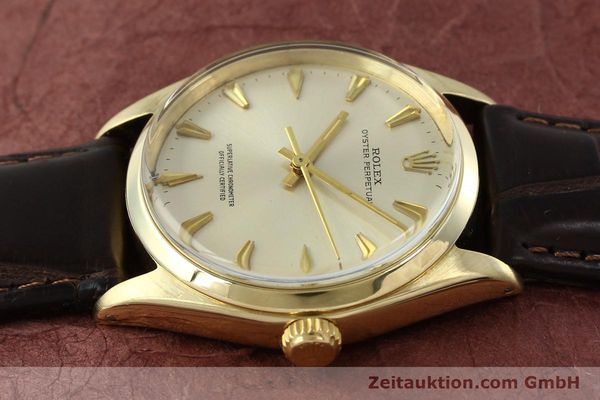 Used luxury watch Rolex Oyster Perpetual 14 ct yellow gold automatic Kal. 1560 Ref. 1002  | 142095 05