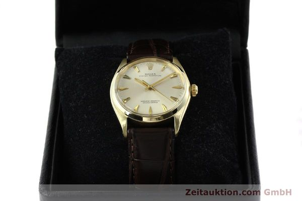 Used luxury watch Rolex Oyster Perpetual 14 ct yellow gold automatic Kal. 1560 Ref. 1002  | 142095 07