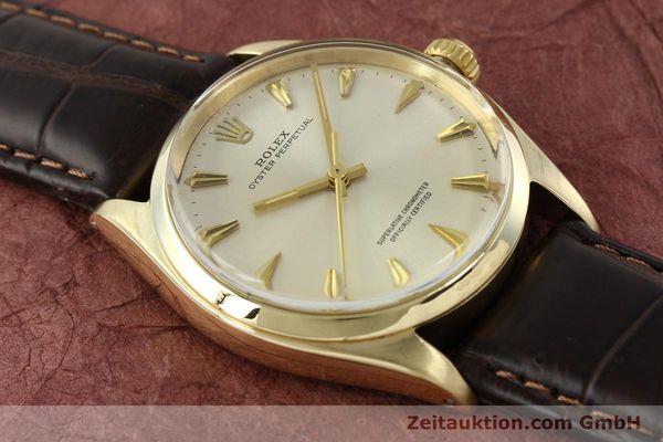 Used luxury watch Rolex Oyster Perpetual 14 ct yellow gold automatic Kal. 1560 Ref. 1002  | 142095 14