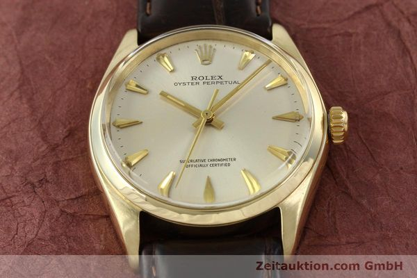 Used luxury watch Rolex Oyster Perpetual 14 ct yellow gold automatic Kal. 1560 Ref. 1002  | 142095 15