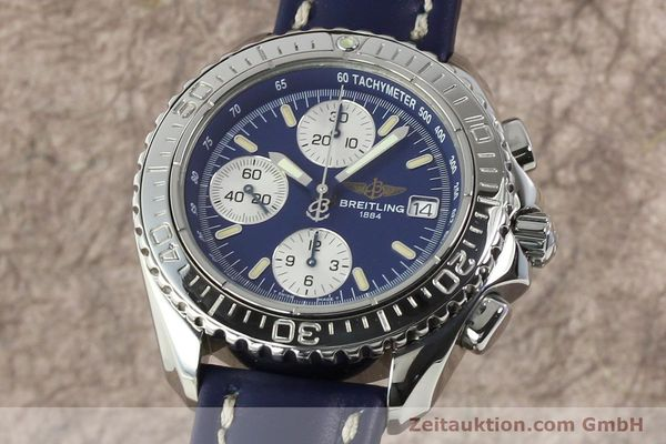 Used luxury watch Breitling Shark chronograph steel automatic Kal. B13 ETA 7750 Ref. A13054  | 142098 04