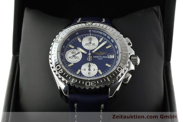 Used luxury watch Breitling Shark chronograph steel automatic Kal. B13 ETA 7750 Ref. A13054  | 142098 07