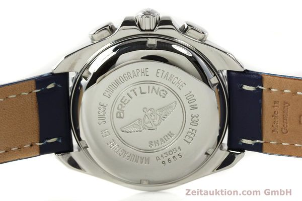Used luxury watch Breitling Shark chronograph steel automatic Kal. B13 ETA 7750 Ref. A13054  | 142098 09